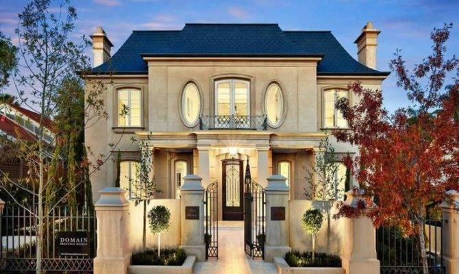 French Provincial Facade New House Like Garden Front Fence
