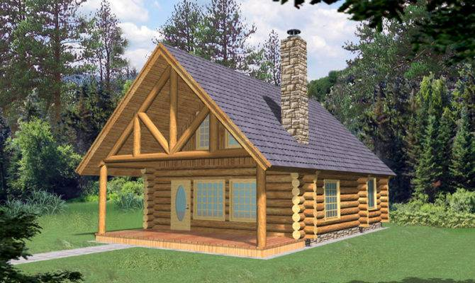 Frisco Pass Log Cabin Home Plan House Plans More