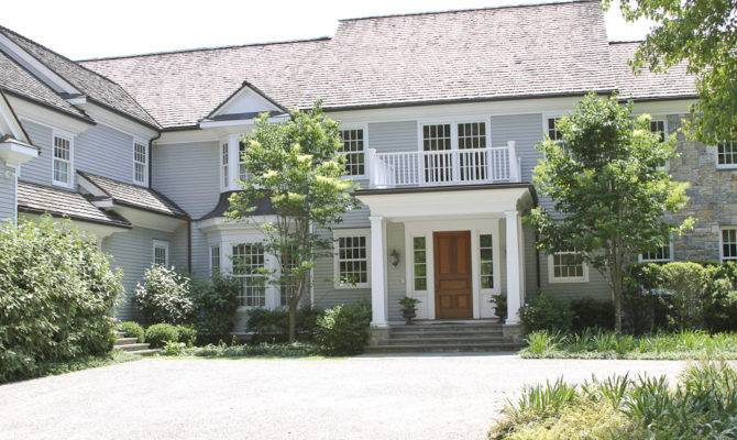 Front House Colonial Revival Georgian Portico Pinterest