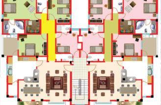 Garage Bedroom Apartment Plan Floor Plans
