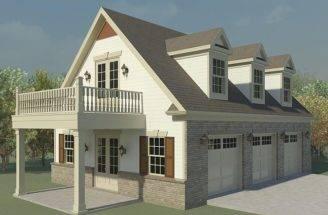 Garage Loft Plans Three Car Plan Future Guest