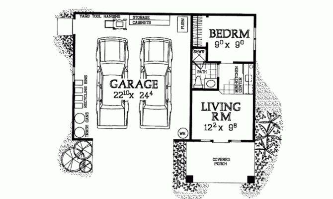 Garage Plan Studio Apartment Square Feet