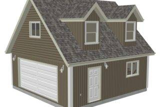 Garage Plans Loft Dormer Render Sds