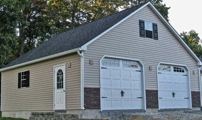 Garages Two Car Story Raised Roof Garage Double Wide Built