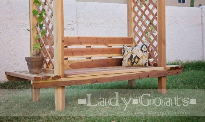 Garden Trellis Bench