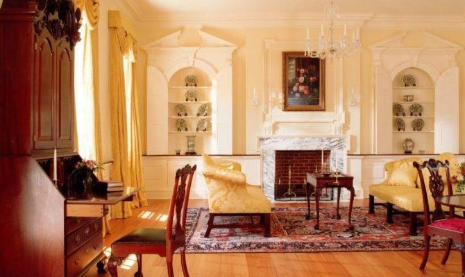 Georgian Colonial Sitting Room Source David Jones Architects