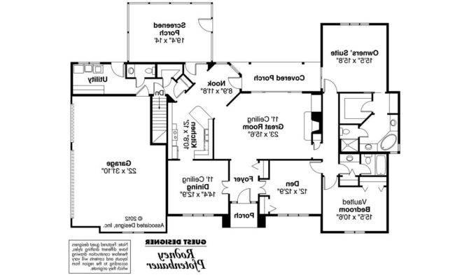 Georgian House Plan Ingraham Floor