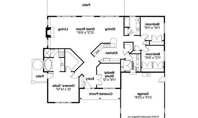 Georgian House Plan Lewiston Floor