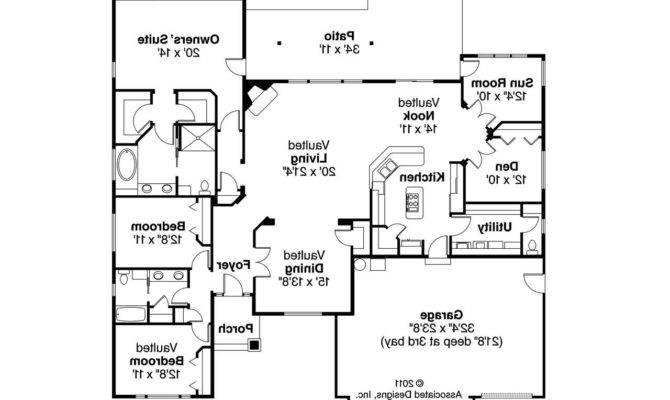 Georgian House Plan Lupine Floor