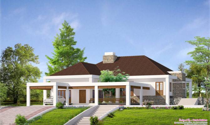 Given Home Facilities Kerala House Elevation