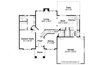 Gorgeous Traditional House Plans Coleridge Associated Designs Plan