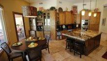 Gourmet Kitchen Travertine Tile Throughout Home
