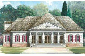 Greek Revival House Plan Square Feet Bedrooms