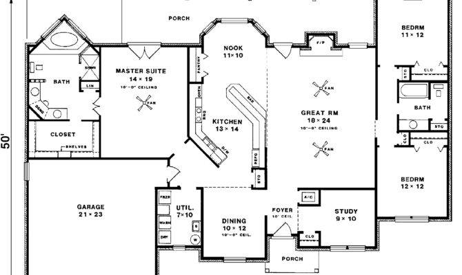 Hannegan Crest Tudor Ranch Home Plan House Plans More