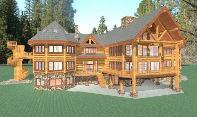 ideas for luxury log house plans home plans blueprints 4452