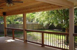Here Covered Deck Looking Into Woods