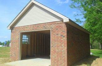 Here Small Detached Brick Garage