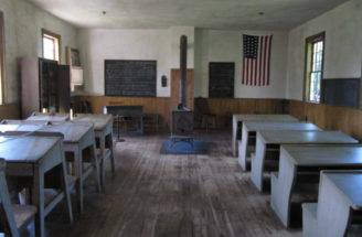 Here Typical One Room School House Wood Stove Reminds