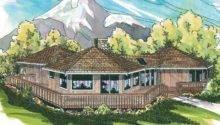 Hexagonal House Plan Encino Rear Elevation