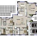 Hillside Bedroom Living Areas Double Garage House Plans