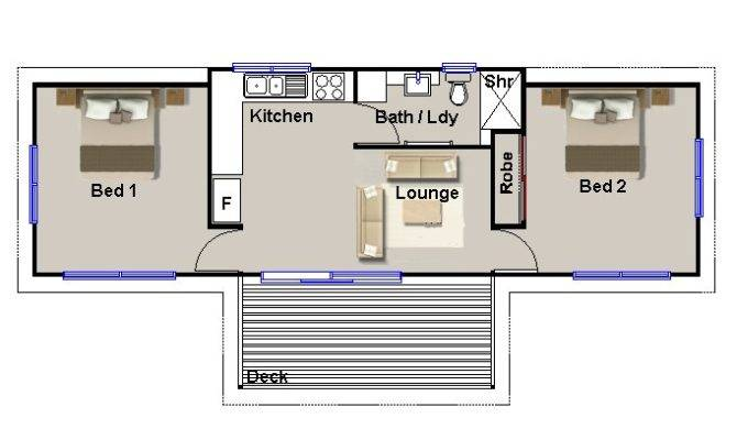 Home Bedroom Granny Flat Guest Quarters House Plans Sale Ebay