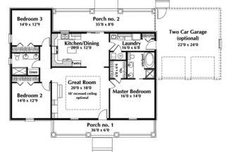 Home Decor One Story Ranch House Plans Country