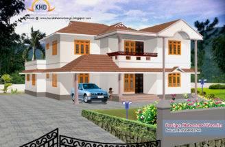 Home Design Elevation Designs House Renderings Kerala New