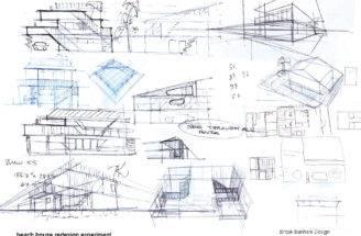 Home Design Sketch Plans Modern Bali House