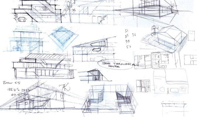 Home Design Sketch Plans Modern Bali House