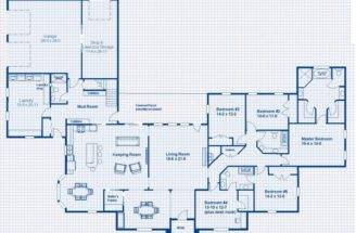 Home Large Utility Room One Story Bedroom House Plans Any