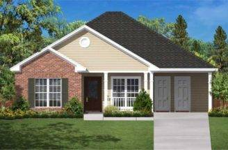 Home Plans Large Kitchens Layered Facade House