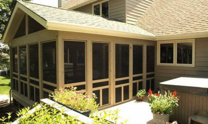Home Screened Porch Plans Glass Doors