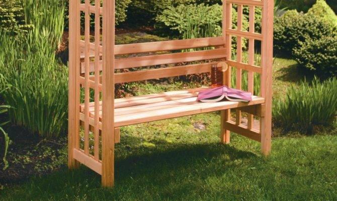 Home Yard Decor Arbors Cedar Arbor Bench Seat