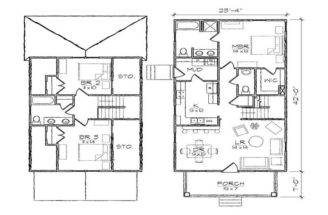 Homes Floor Modern Plans Small Houses Home