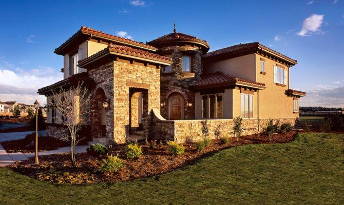 Homes Tuscan Villa Best Custom Home Authentic Old