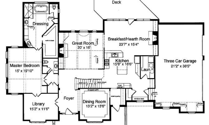 Homespun Hearth Room Hwbdo Country House Plan