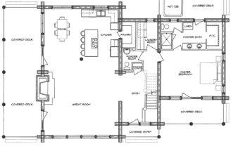 Homestead Log Home Floor Plan