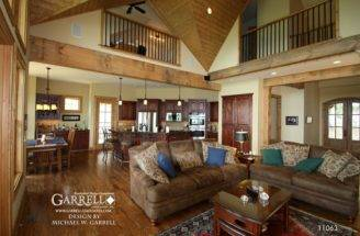 Hot Springs Cottage House Plan Lodge Room Garrell Associates