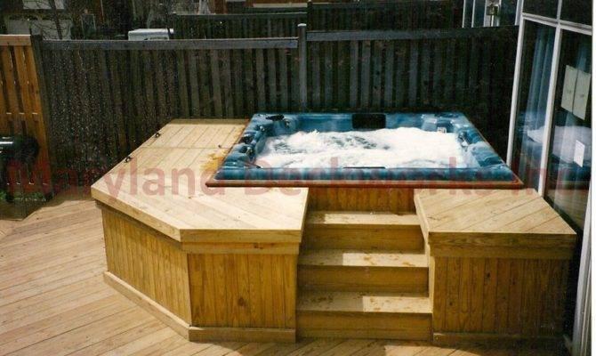 Hot Tub Deck Ideas Annapolisdecksandpatios Complete