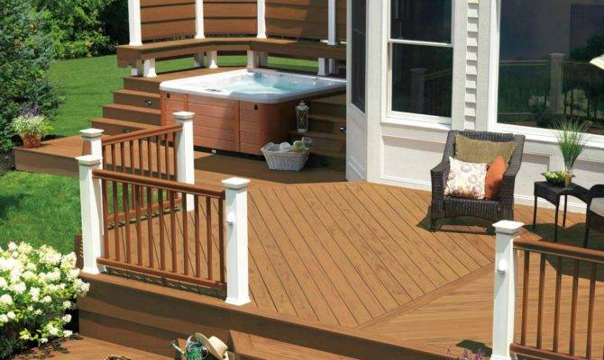 Hot Tub Designs Outdoor Design Landscaping Ideas Porches Decks