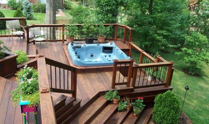 Hot Tubs Deck Tub Ideas Pergola