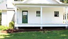 House After New Wraparound Porch Window Half Story