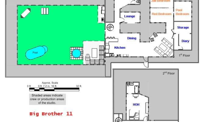House Next Door Highlighted Pinoy Big Brother Floor Plan