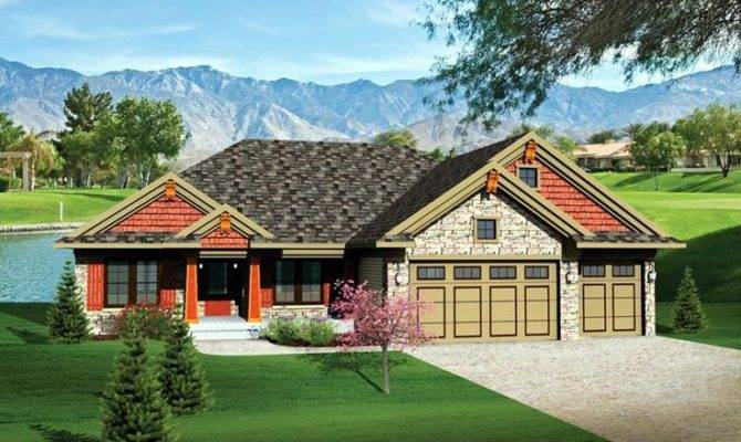 House Plan Bungalow Craftsman Ranch Traditional