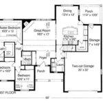 House Plan Good Example Well Thought Out Floor