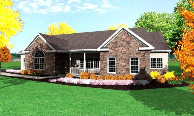 House Plan Single Level One Story Ranch