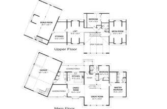 House Plans Home Floor Garage Backyard