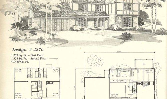 House Plans Homes Tudor Style Vintage