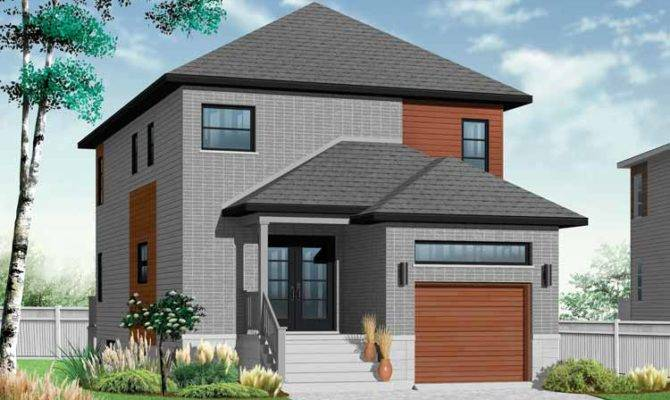 House Plans Narrow Lots Lot Contemporary