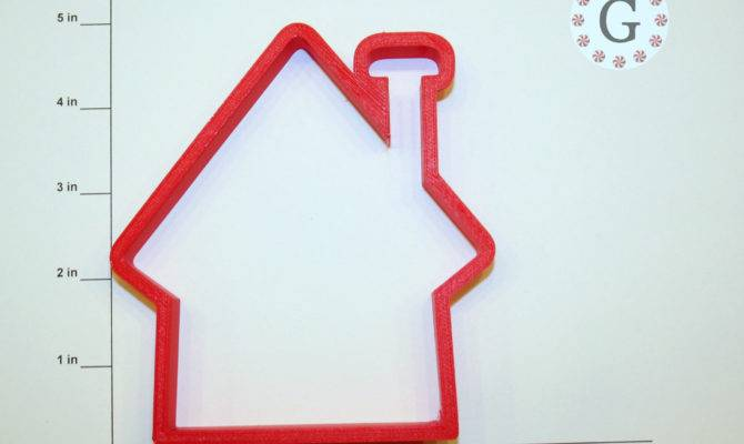 House Tall Chimney Cookie Cutter Gingerbread Company